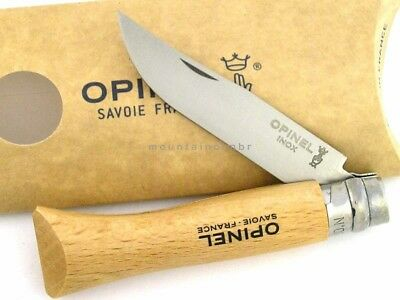 Opinel 6 No 6 Beechwood Safety Locking STAINLESS Steel Blade Knife France