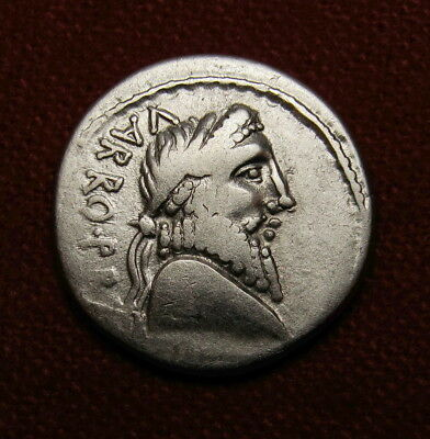 Pompey the Great Denarius. Civil War mint. 47BC. Rare Roman Republic coin.