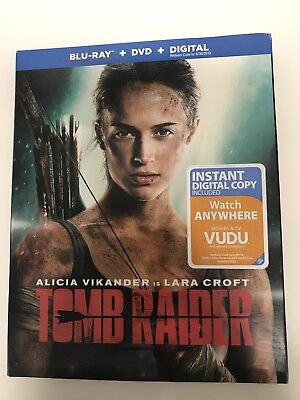 Tomb Raider (Blu-Ray + DVD + Digital) 2018 NEW w/ Slip Cover -Fast Free Shipping