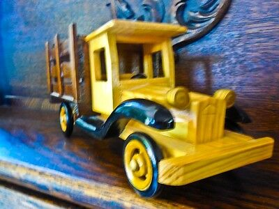 Collector's Wood Folk Art vintage stake 3/4 ton truck by Heritage Mint Ltd.