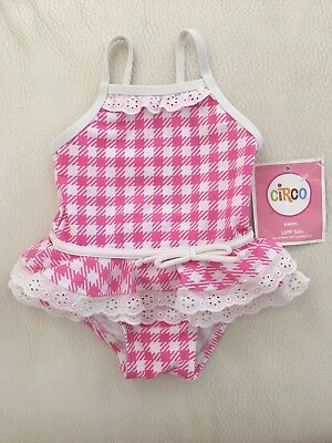 Nwt Circo Pink Check Swimsuit One Piece Sz 9 Months