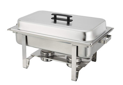Winware 8 Qt Stainless Steel Chafer, Full Size