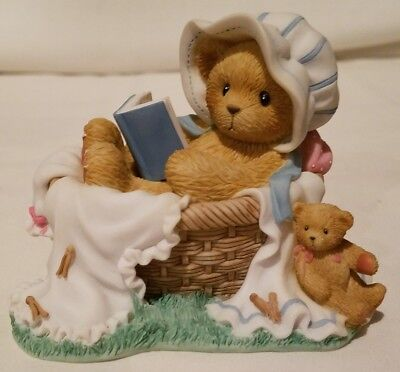 Cherished Teddies Bear Figurine Alexis Good Book Syndicated Catalog Exclusive