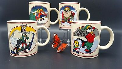 Warner Brothers Bugs Bunny Coffee mug Set of 4 1993 Unused STORE EXCLUSIVE
