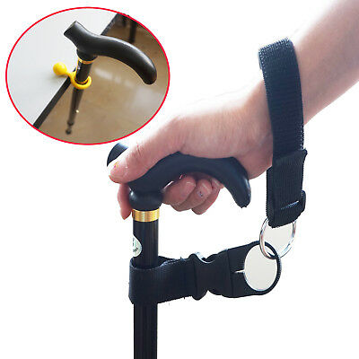 Walking Stick Strap Wrist Strap Carry Cane New Free Delivery & Cane Crutch Clips
