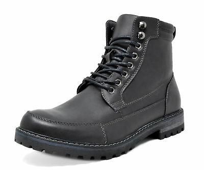 Bruno Marc Men Engle-01 Dress Motorcycle Combat Ankle Oxford Snow Boots