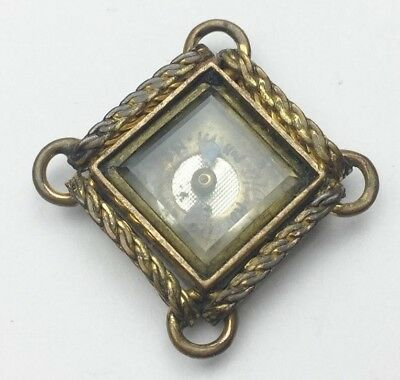 ANTIQUE VICTORIAN 9ct ROLLED GOLD FOB PENDANT COMPASS