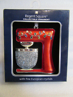 Regent Square ~ Electric Mixer Red Cooking Baking ~ with Crystals Ornament