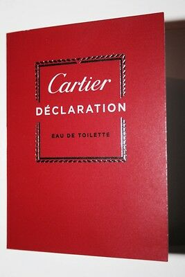 🎩 CARTIER Declaration Eau de Toilette EdT 1,5 ml Parfum Probe Sample Duftprobe