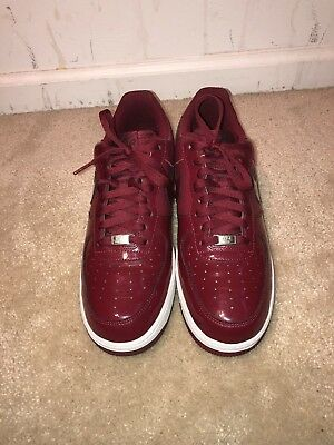 Nike Air Force One 1 Patent Leather Maroon Burgundy size 11