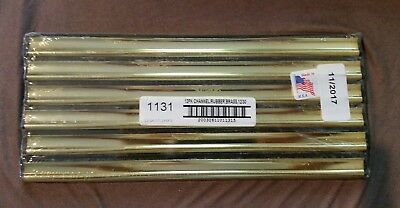 """12pk Ettore 12"""" Brass Window Washing  Replacement Squeegee Channels w/Rubber USA"""