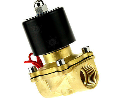 """2 Way 2 Position AC 220V 3/4"""" Port Air Water Gas Electric Solenoid Valve"""