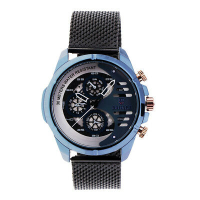 BAGARI Business Quartz Watch Stainless Stain Strap Men Watch Christmas Gifts