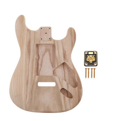 DIY Unfinished Guitar Body w/ Neckplate for Stratocaster ST Electric Guitar