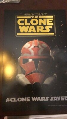 Star Wars The Clone Wars 2018 SDCC Limited Edition Poster #CloneWarsSaved