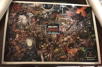 Call Of Duty 4 Zombies Sdcc 2018 San Diego Comic Con Poster 10th Anniversary