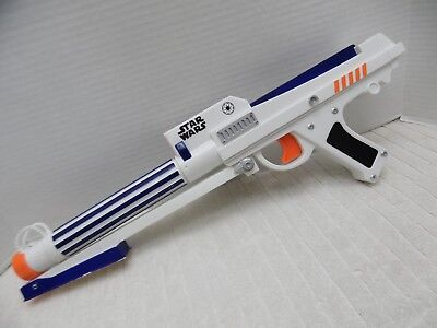 NERF Star Wars Clone Trooper Blaster Dart Gun 2006 Red Laser Sight boys prop