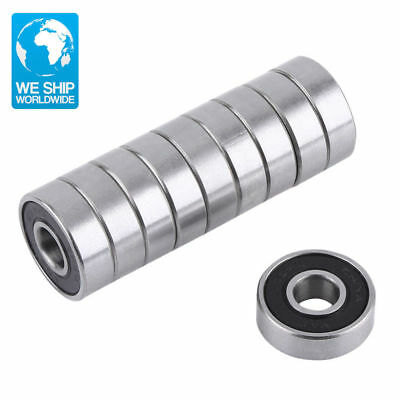 10Pcs 608-2RS Miniature Deep Groove Steel Sealed Ball Bearings High Quality