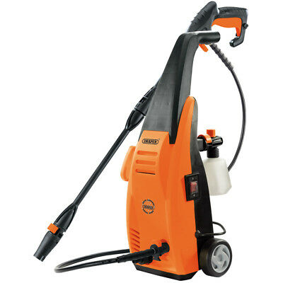Draper power Pressure Washer 1200W Patio Car Jet Wash Adjustable Gun 53864