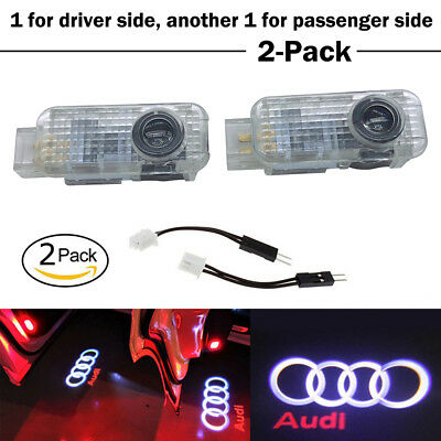 AUDI LOGO LED Projector Car Door Lights Shadow Puddle Courtesy Laser Light UK