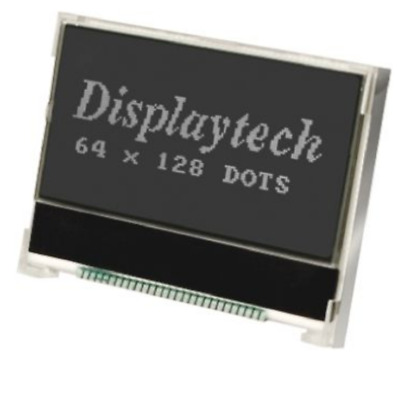 128 x 64 Graphic LCD Transflective Display White Backlit  64128K GC BW-3