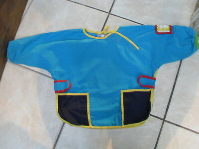 Age 2 Years Blue Over All Tunic/bib By Vertbaudet Fab For Meals/crafts Etc