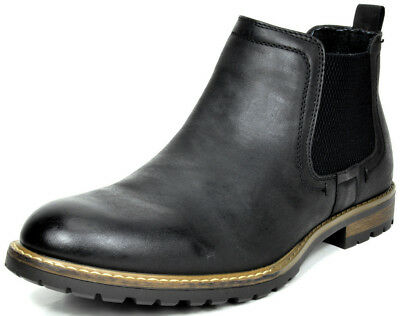 BRUNO MARC MODA ITALY PHILLY-2 Men's Lined Casual Slip On Chelsea Ankle boots