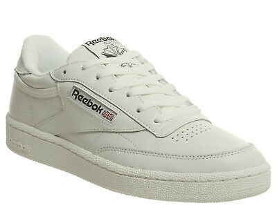 6338d26bd9458 REEBOK CLUB C 85 Trainers VINTAGE CHALK BLACK Trainers Shoes - EUR ...