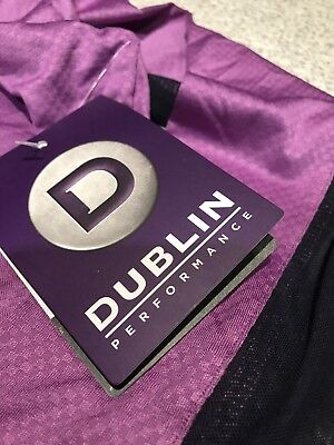 New Dublin Airflow Long sleeve childs violet zip  techical top, sz 12