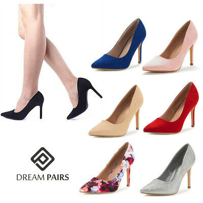 DREAM PAIRS Women Ladies Fashion Pointed Toe Pump High Heel Party Dress Pumps