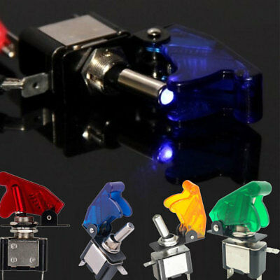 Car 12V 20A Racing Vehicle ON//OFF Light Rocker Toggle Switch Cover Universal Pro