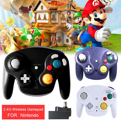2.4G Wireless Gamepad Controller Joypad For Nintendo Gamecube Wii Wii U NGC AU