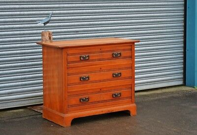 Antique Chest Of Drawers in Satinwood.
