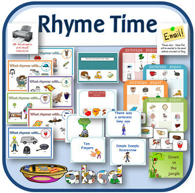 RHYME and RHYTHM phonics teaching resources letters sounds EYFS Rhyming words CD