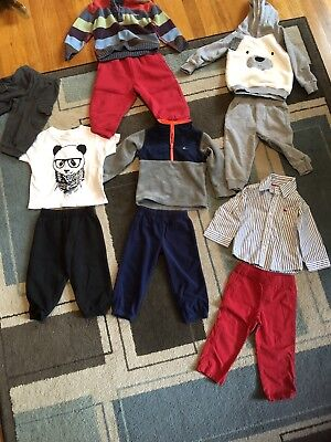 18 Month Boy Fall/Winter Clothing Lot 11 Pieces Panda Bear Carter's Lands End