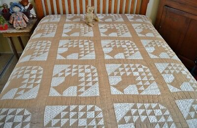 Antique Hand Stitched Tree of Life Quilt