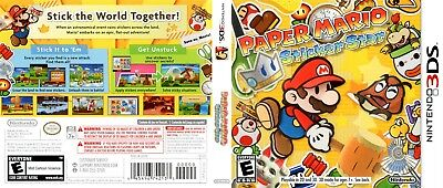 Paper Mario Sticker Star Nintendo 3DS Reproduction Cover Art (No Game, No Box)
