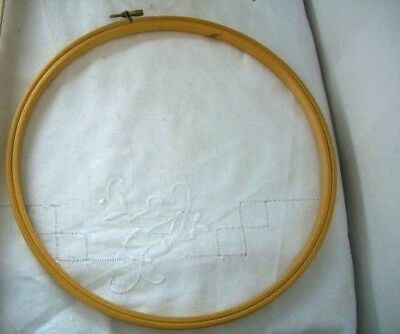 Wooden Embroidery Cross Stitch Ring Hoop 10""