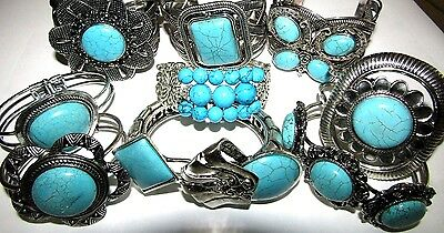 Vintage Turquoise Silver Bangles Cuff Boho Great Selection Fast Uk Delivery