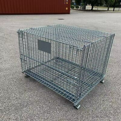 1000KGS Collapsible Stackable Wire Mesh Stillage Pallet Cage Basket Container