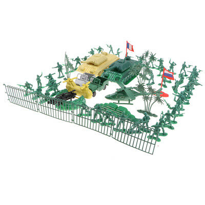 87pcs WWII Military Playset 4.5cm Soldier Action Figures Collectibles Gift B