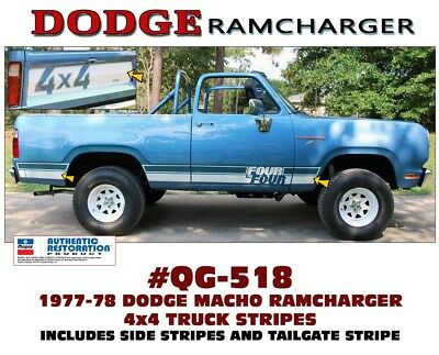 LICENSED RAMCHARGER HOOD DECAL QG-702 1971 DODGE SUPER BEE TWO DECALS