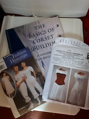 The Basics of corset building by Linda Sparks & 2 Victorian style  patterns NEW