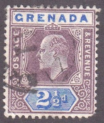 Grenada, 1902, 2.5d blue and purple,  SG60, Sc51, used.