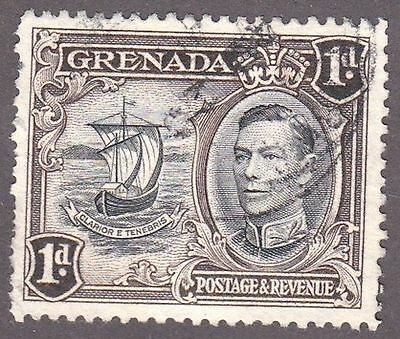 Grenada, 1938, 1d black and brown, SG154, Sc133, used.