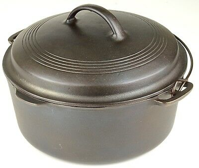 Vintage Wagner Ware No 8 Cast Iron Dutch Oven Restored Condition