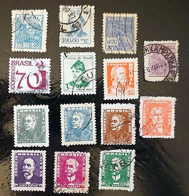BRAZIL    Lot of 14 different    VERY OLD STAMPS  used