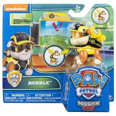 PAW Patrol Mission PAW Action Pack Pup Rubble Figure Childrens Collectable Toy