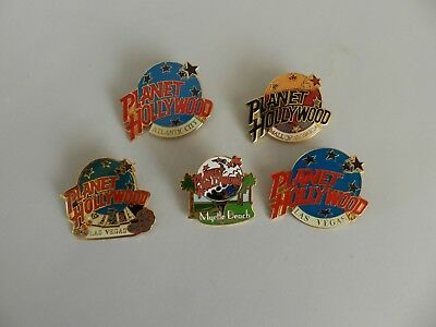 Plant Hollywood Restaurant Collectible Pins - Lot of 5 - New