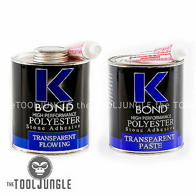 K BOND 1 Quart Solid Transparent Polyester  Solid Glue For Granite Stone Marble